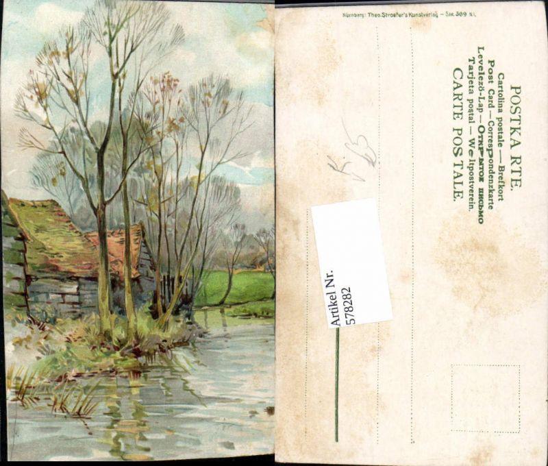 578282,Künstler AK Bach Landschaft pub Theo Stroefer Nürnberg 309