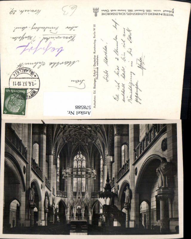 578588,Lutherstadt Wittenberg Schlosskirche Innenansicht