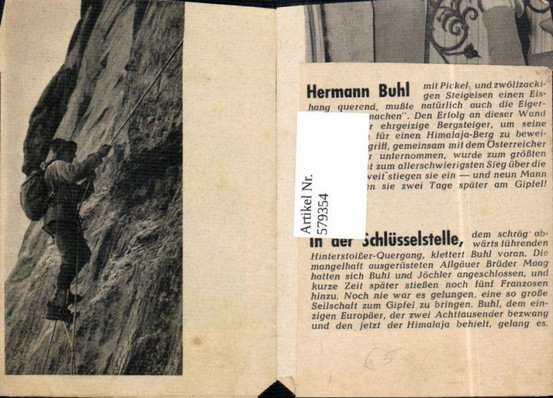 579354,Zeitungsausschnitt Kletterer Bergsteiger Hinterstoißer Gang Eiger Bern Nordwand