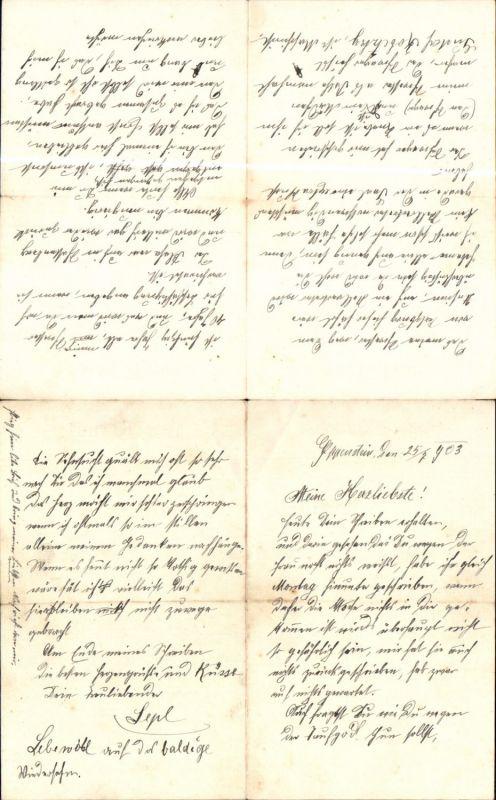 579362,Brief 1903 Eppenstein Weißkirchen Bezug Fam. Hermentin u. Kopetzky