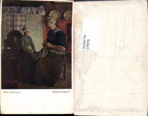 579978,Künstler Ak Viktor Scharf Holländerstube Nähen Sticken Heimarbeit Hausarbeit pub B.K.W.I. 1058