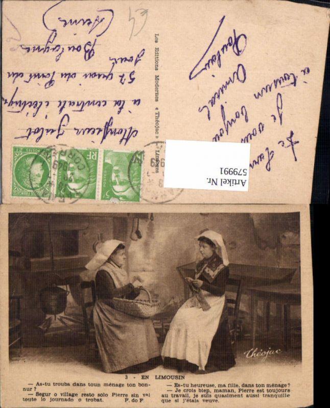 579991,En Limousin Frauen Stricken Küche Spruch Heimarbeit Hausarbeit