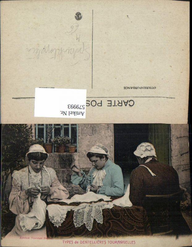 579993,Types de Dentellieres Tourangelles Spitzenklöpplerin Nähen Heimarbeit Hausarbeit
