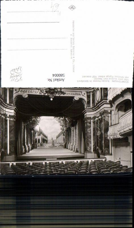 580004,Foto Ak Schwetzingen Rokoko Theater i. Schlosspark Bühne