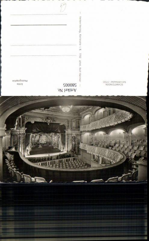 580005,Foto Ak Schwetzingen Rokoko Theater i. Schlosspark Bühne
