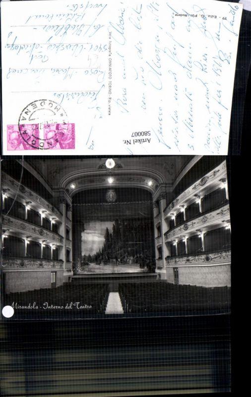 580007,Mirandola Interno del Teatro Theater