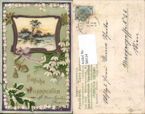 580124,tolle Präge Lithographie Jugendstil Art Nouveau