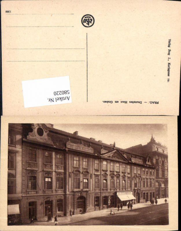 580220,tolle AK Prag Praha Deutsches Haus im Graben
