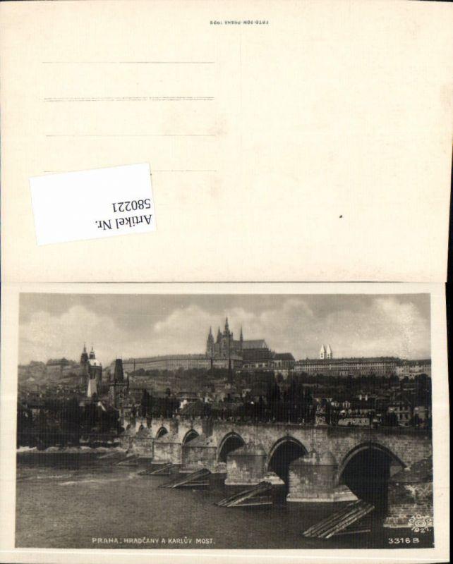 580221,tolle AK Prag Praha Brücke