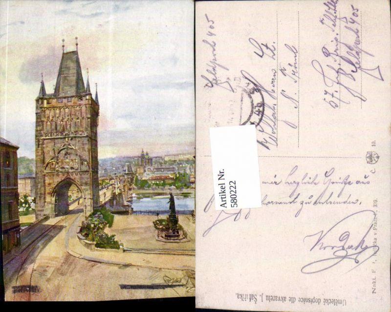 580222,tolle Künstler AK J. Safarika Prag Praha