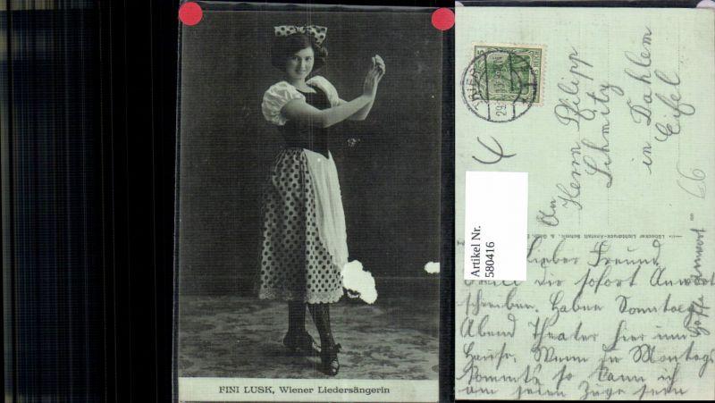 580416,Fini Lusk Wiener Liedsängerin Opernsänger Oper