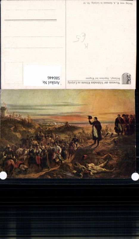 580446,Künstler Ak Bellange Napoleon b. Wagram 19 Jhdt.
