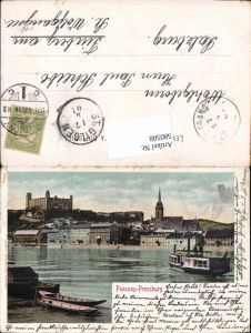 580508,Pressburg Pozsony Schiffe 1905
