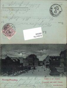 580509,Mond Lithographie Pressburg Pozsony Theater 1899