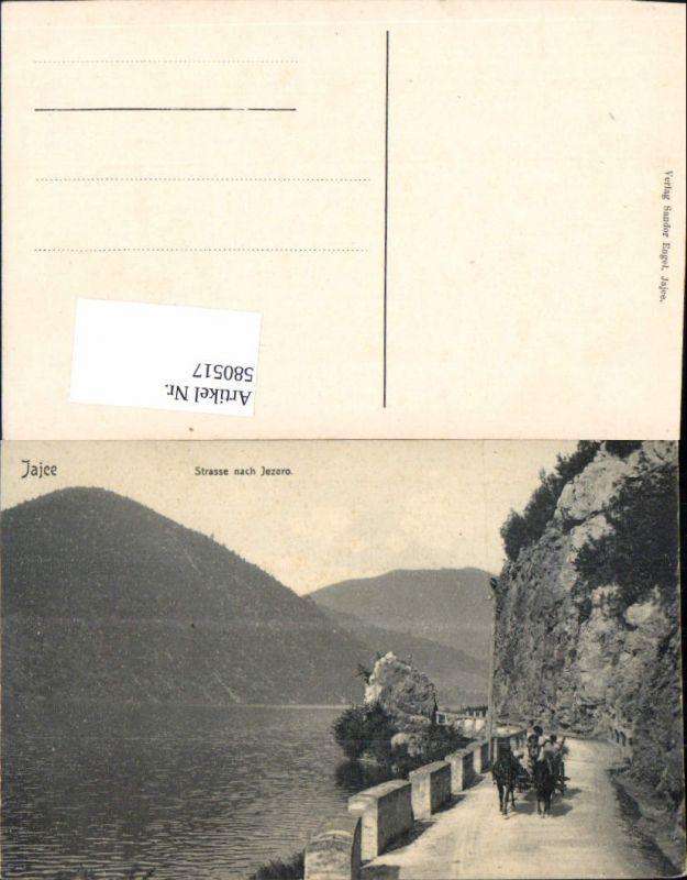 580517,Jajce Bosnia Strasse nach Jezero