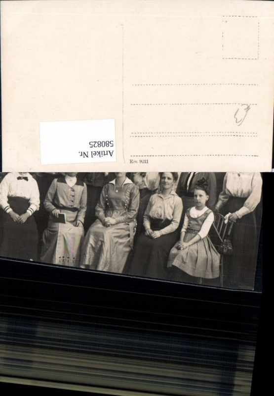580825,Foto Ak Gruppenbild Frauen Uniform Matrosenanzug