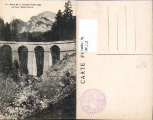 581252,Route de la Grande-Chartreuse Le Pont Saint-Pierre Brücke Viadukt
