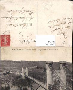 581256,Haute-Savoie Le Pont de la Caille Hängebrücke Brücke