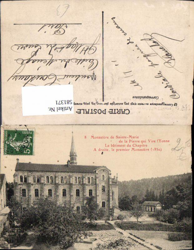 581371,France Monastere de Sainte-Marie de al Pierre qui Vire Yonne Le batiment du Chapitre