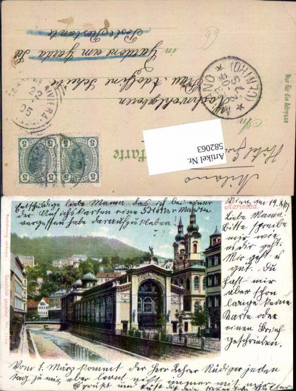 582063,Karlsbad Karlovy Vary Sprudelhaus Litho