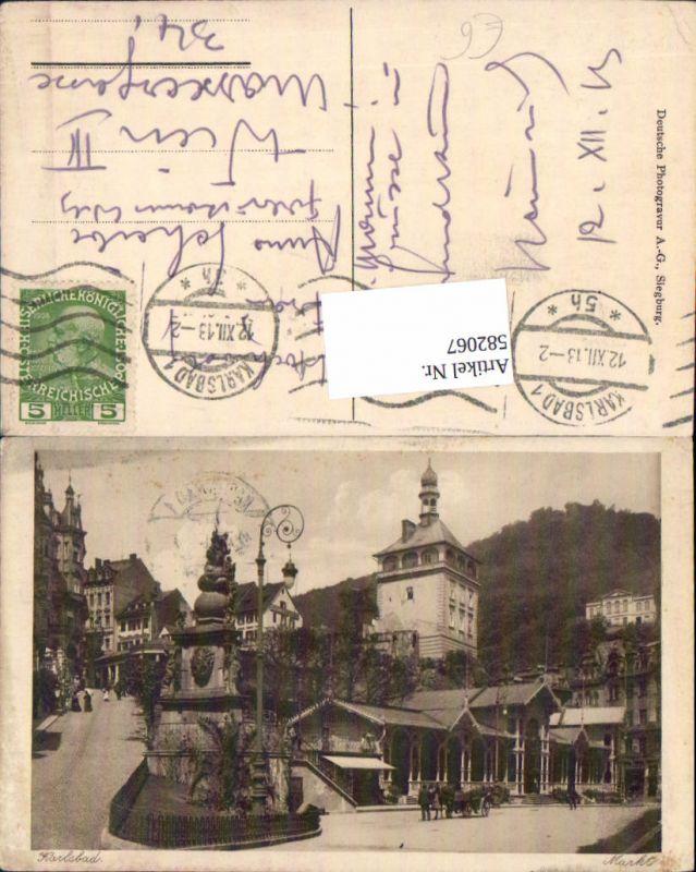 582067,Karlsbad Karlovy Vary Markt