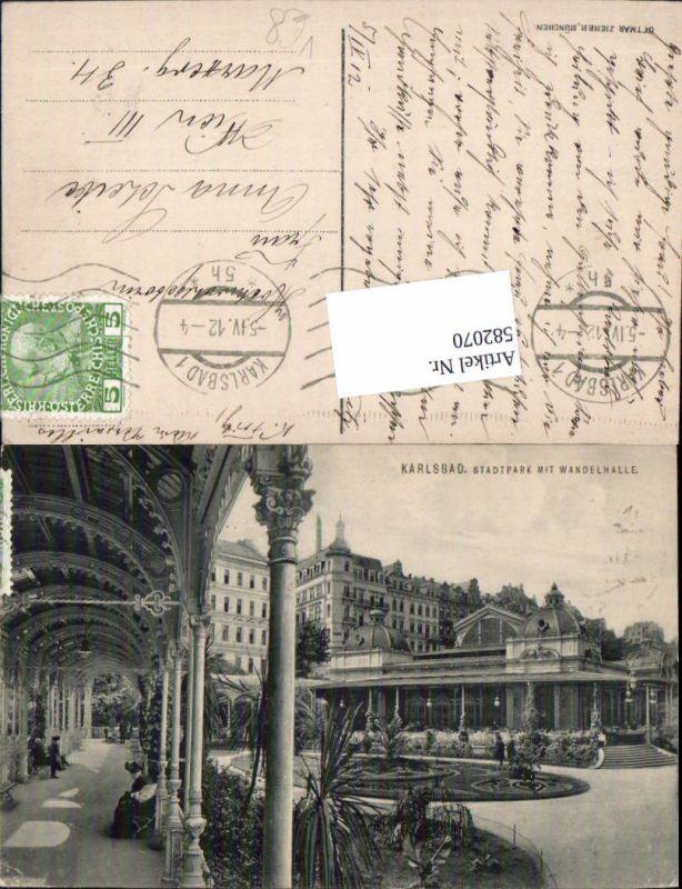 582070,Karlsbad Karlovy Vary Stadtpark pub Zieher