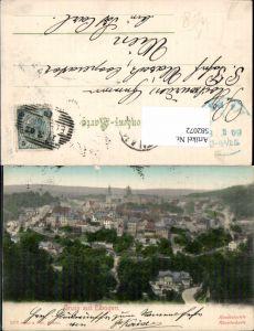 582072,Karlsbad Karlovy Vary Elbogen Handkolorierte Künstlerkarte
