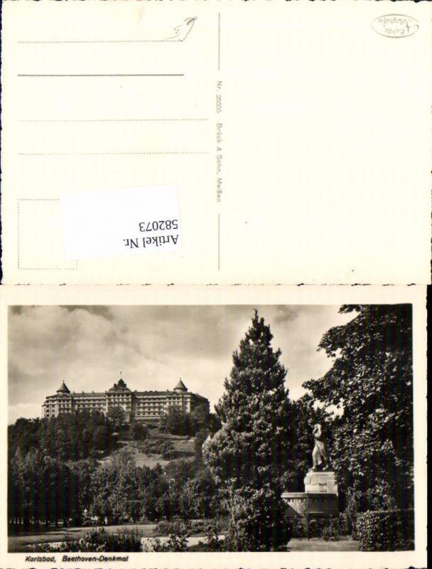 582073,Karlsbad Karlovy Vary Beethoven Denkmal