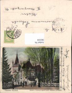 582224,Üdvözlet Kassarol Košice Kassa Reszlet a Szechenyi ligetröl Jakab müsepitesz palotajaval Slovakia