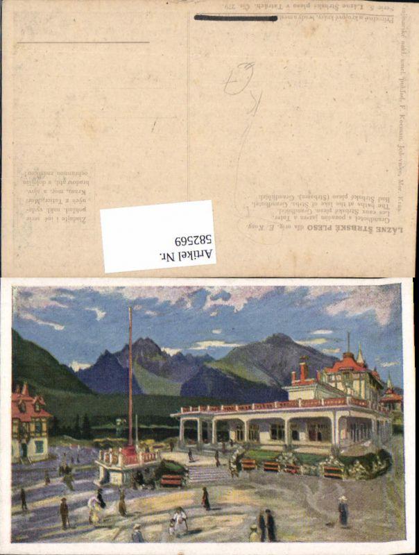 582569,Künstler Ak E. Kosy Strbske Pleso Grandhotel Slovakia 0