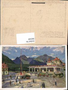 582569,Künstler Ak E. Kosy Strbske Pleso Grandhotel Slovakia