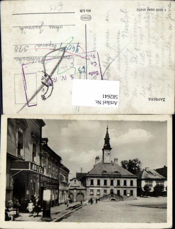 582641,Zamberk Senftenberg Ansicht Platz m. Hotel Czech Republic