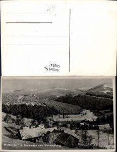 582647,Korenov Wurzelsdorf Blick n. d. Riesengebirge Winteransicht Czech Republic