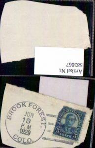 583067,Briefmarke Stamp 1929 Brook Forest Colorado