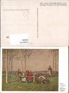 583085,Künstler AK Hans von Volkmann Kinderreigen Kinder Reigen