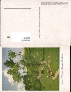 583089,Künstler AK Hans von Volkmann Sonniger Berghang