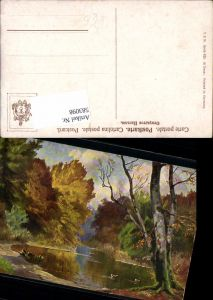583098,Künstler AK Wald Teich Herbst pub Theo Stroefer 823