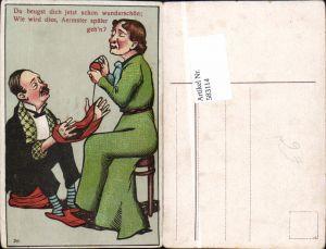 583114,Künstler AK Humor Emanzipation Scherz Mann