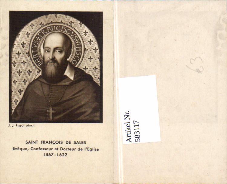 583117,Heiligenbild Saint Francois de sales J.J. Tissot