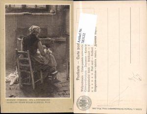 583122,Künstler AK August Pettenkofen Näherin Venedig pub Löwy 108