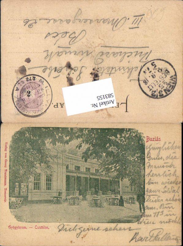 583155,Buzias Romania Cursalon 1899