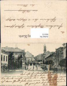 583172,Gruß aus Czernowitz Bukowina Kutschen 1900