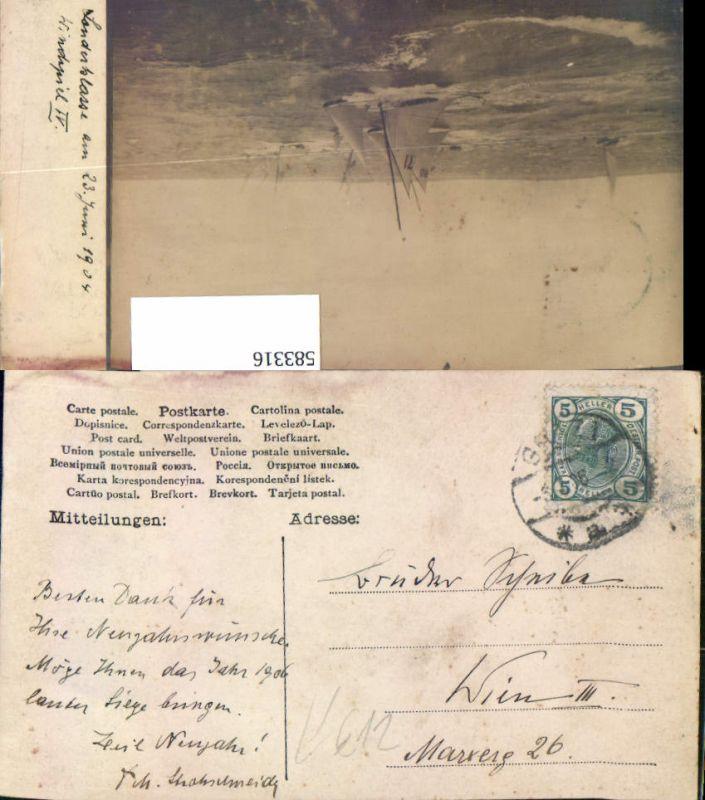 583316,Segelschiff AK v. St ? M. Strohschneider Graz an Scheibe Wien Landstraße