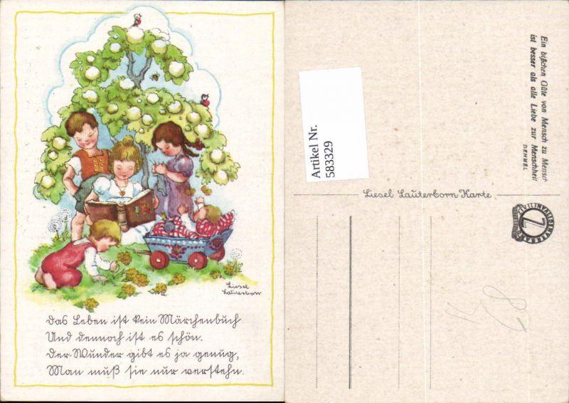 583329,Künstler AK Liesel Lauterborn Kinder