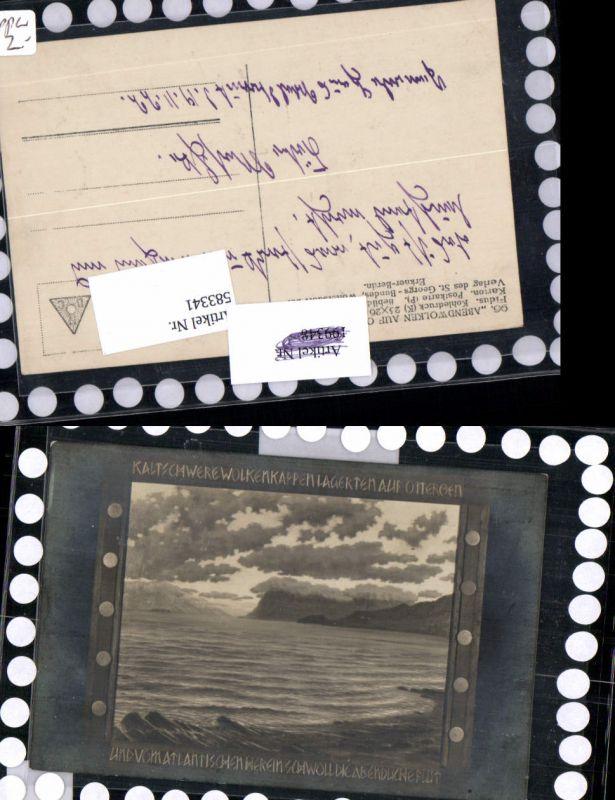 583341,Künstler AK FIDUS 96 Abendwolken Otteröen