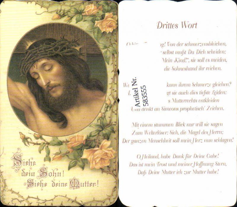583555,Andachtsbild Heiligenbildchen Jesus Litho