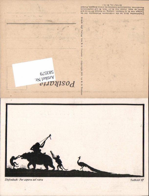 583579,Scherenschnitt Silhouette Diefenbach Per aspera ad astra 17 Bär