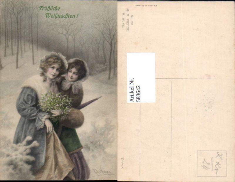 583642,Künstler AK R.R. v. Wichera Weihnachten pub Munk Vienne 598