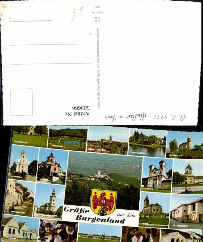 583666,Mehrbild Ak Hornstein Neufeldersee Stotzing Marz Loipersbach Trausdorf