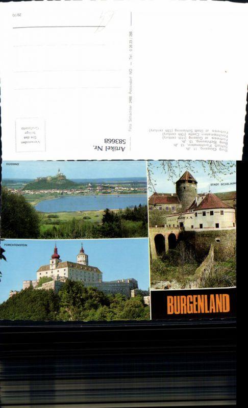 583668,Mehrbild Ak Burg Güssing Schloss Forchtenstein Burg Schlaining